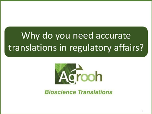 Why do you need accurate translations in regulatory affairs?