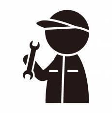 メカニックシルエット イラストの無料ダウンロードサイトシルエットac