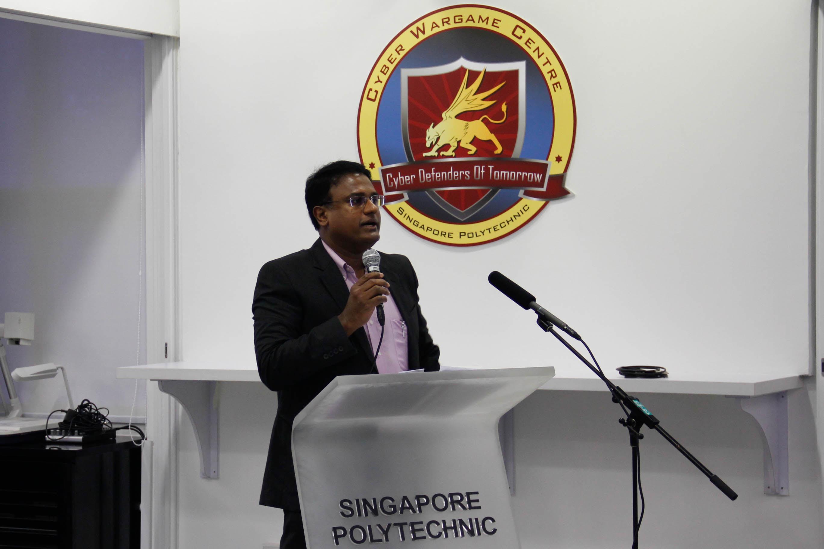 Mr Jamal Sheik giving an introductory presentation on ISACA