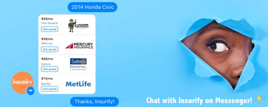 Insurify Launches Facebook Messenger Insurance Comparison Service Along With Nabbing $4.6 Million More In Funding