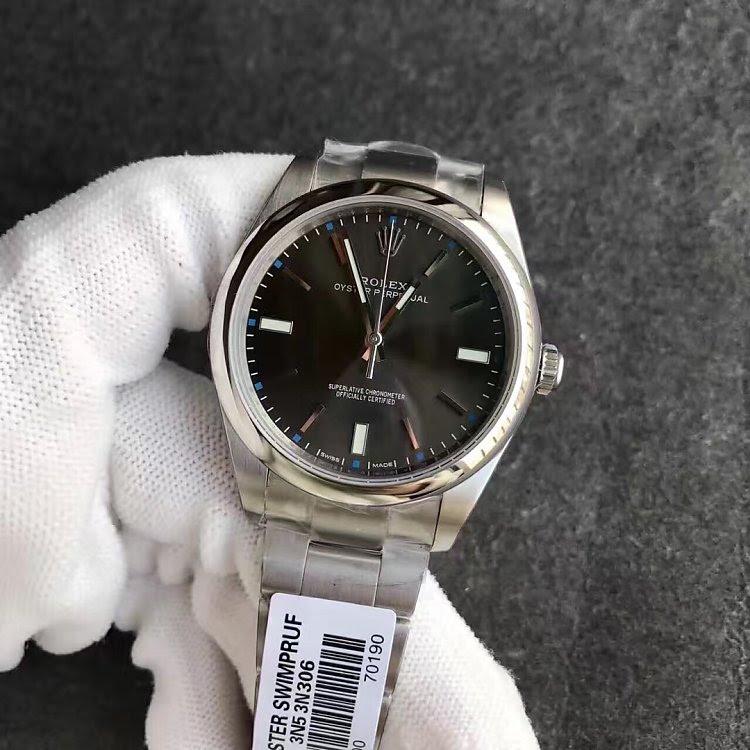 Replica Rolex Oyster Perpetual 114300 Grey Dial Watch