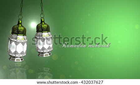 Ramadan Mubarak And Traditional Ramadan Lantern And Islamic Rosary | Light Colorful Green Background | Ramadan In Egypt And The Light Of Ramadan. Its The Lantern A Ramadan Story Stock Photo 432037627 : Shutterstock