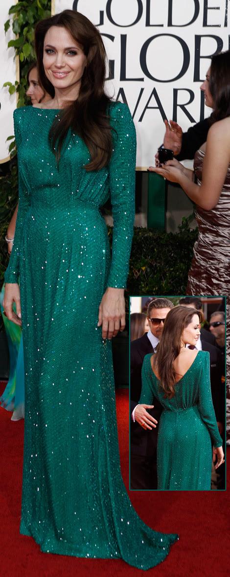 semsem tattoo: angelina jolie golden globes dress 2011