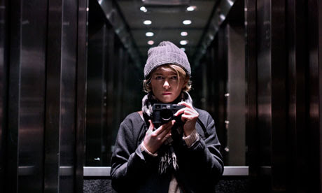Sarah Lee with her gaffer-taped Leica
