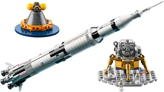 Live Out Your Astronaut Dreams With Lego's Meter-Tall NASA Apollo Saturn V Rocket