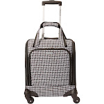 """American Tourister Lynnwood 16"""" Underseat Spinner Carry-On - eBags Exclusive - Houndstooth Dalmation/Black - Underseat Luggage"""