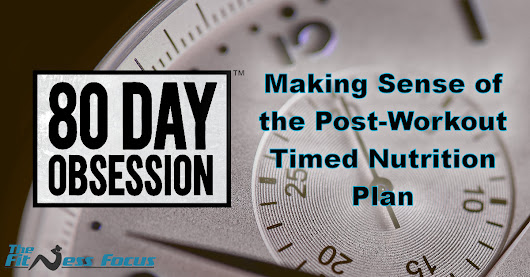 80 Day Obsession Post-Workout Timed Nutrition Plan with 7 Meal Ideas