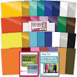 30 Pack of Vinyl (Permanent & Removable) with Transfer Paper | by Craft-e-Corner