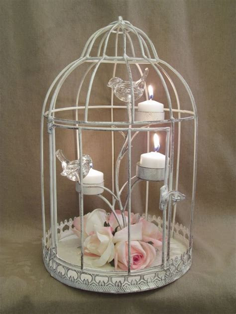 Bird Cage Wedding Centerpieces   Distressed Shabby Bird