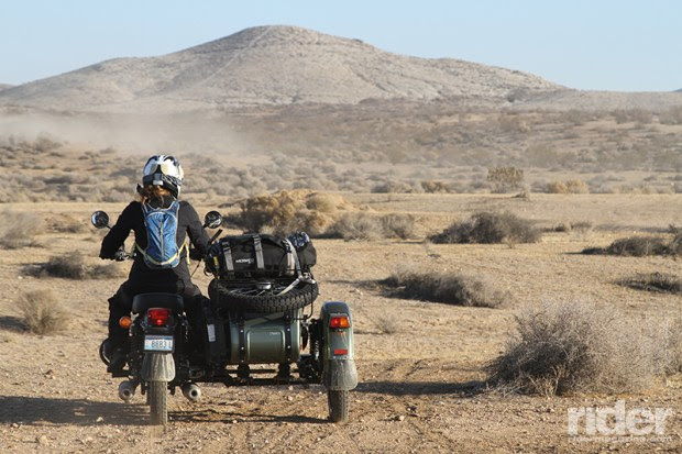 Without the weight of a passenger, a sidecar can be dangerously unstable, so I volunteered for Sherpa duty and carried all the tools, extra water, extra fuel and gear for our three-person riding group.