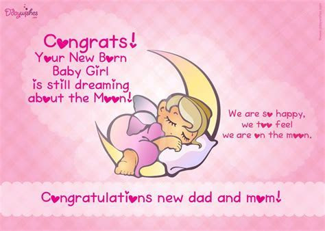 Free Congratulations E Card on Birth of Baby Girl   New