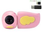 Kids Handheld Video Camera Pink 16G Card
