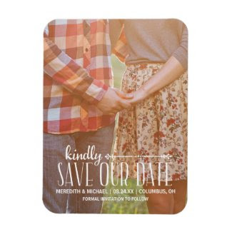 Rustic Vintage | Photo Save the Date Rectangle Magnet