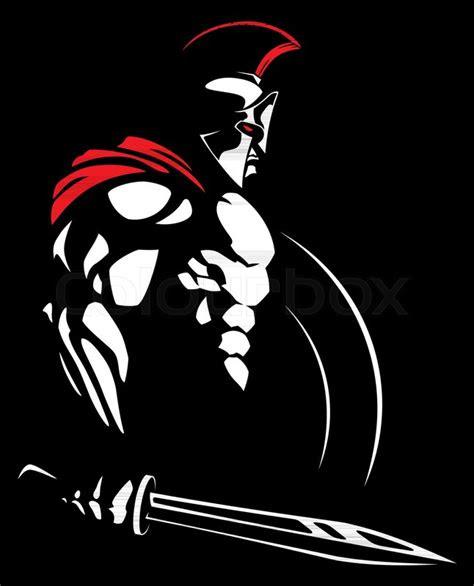illustration  spartan warrior stock vector colourbox