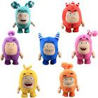 uiuoutoy Oddbods Toys Pogo Fuse Bubbles Slick Zee Jeff Newt Plush Set of 7pcs