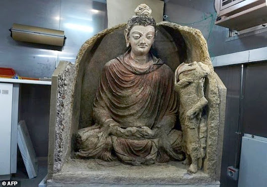 Ancient, near-pristine Buddha from Mes Aynak revealed at Kabul Museum