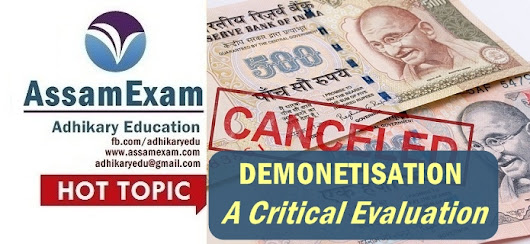 Demonetization: A Critical Evaluation - Assam Exam