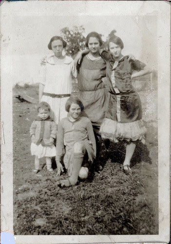 Four girls with one child