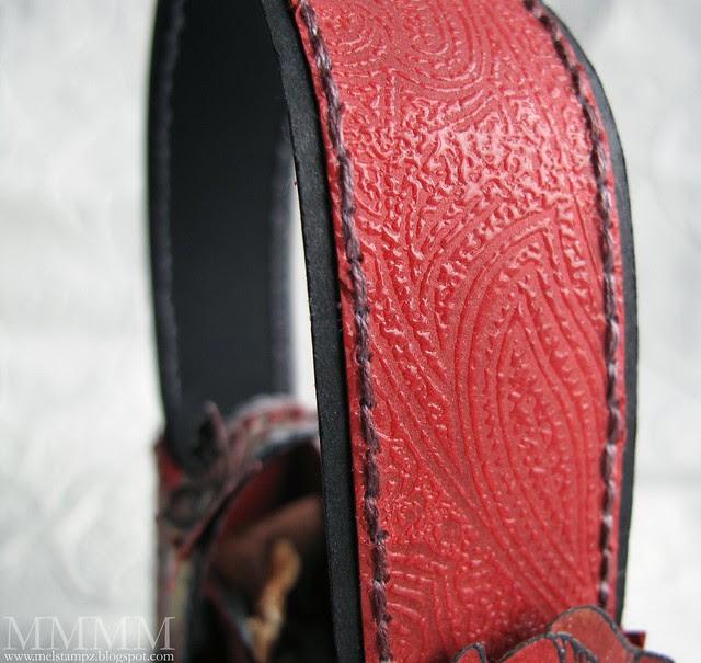 stamped & heat embossed handle