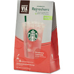 Starbucks Via Ready Brew Refreshers, Strawberry Lemonade - 6 count, 4.16 oz pack