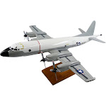 High Flying Models Lockheed P-3c Orion (Hi-Vis White/Grey) Limited Edition Large Mahogany Model