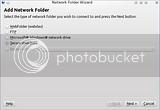 Pemilihan tipe Folder Network