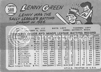 #588 Lenny Green (back)