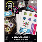 Astrodesigns Sticker Paper, 8-1/2 x 11 Inches, White, 15 Sheets
