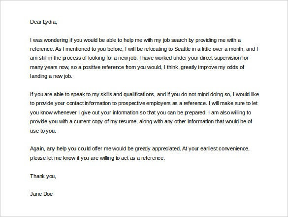 42 Reference Letter Templates Pdf Doc Free Premium