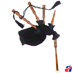 Toy Baby Bagpipe Black Watch Cover & Cord, Bag and Reeds Child Gift