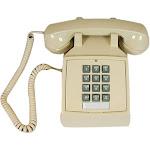 Cortelco 2500 Basic Single-Line Desk Telephone with Volume Control in Ash 250044VBA20M