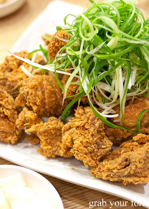 korean fried chicken at naruone one pitt street sydney