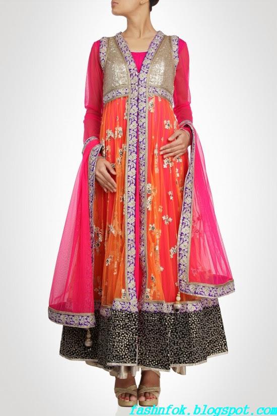 Anarkali-Gorgeous-Bridal- Wedding-Ankle-Length-Dress-by-Designer-Kiran-&-Shruti-Aksh-11