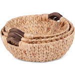 Honey Can Do 3 PC Round Natural Baskets