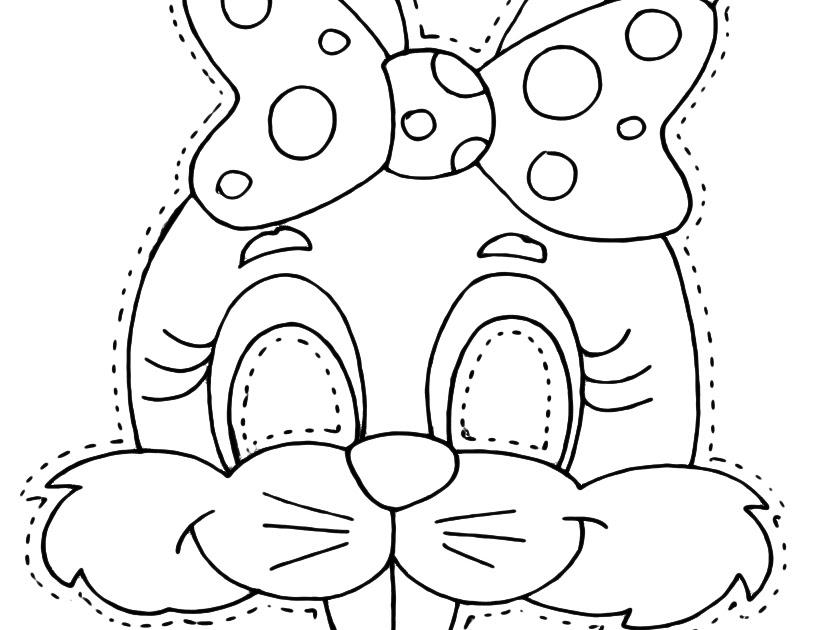 mascara de conejo para colorear y