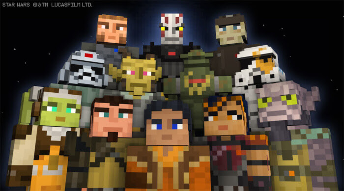 Minecraft Star Wars Rebels Skin Packs for Playstation | Anakin And His Angel