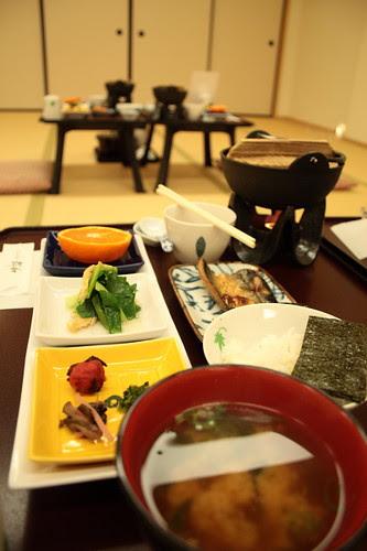 Breakfast at Towa, Kyoto ryokan