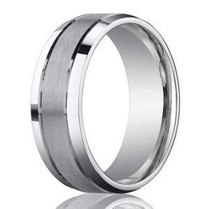 Designer 950 Platinum Wedding Band for Men with Beveled