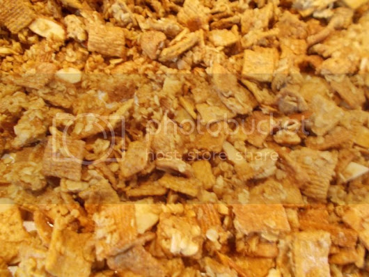 Toasted Cereal and Almond Snack Mix