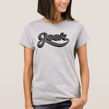Gradien gray Geek - T-shirt