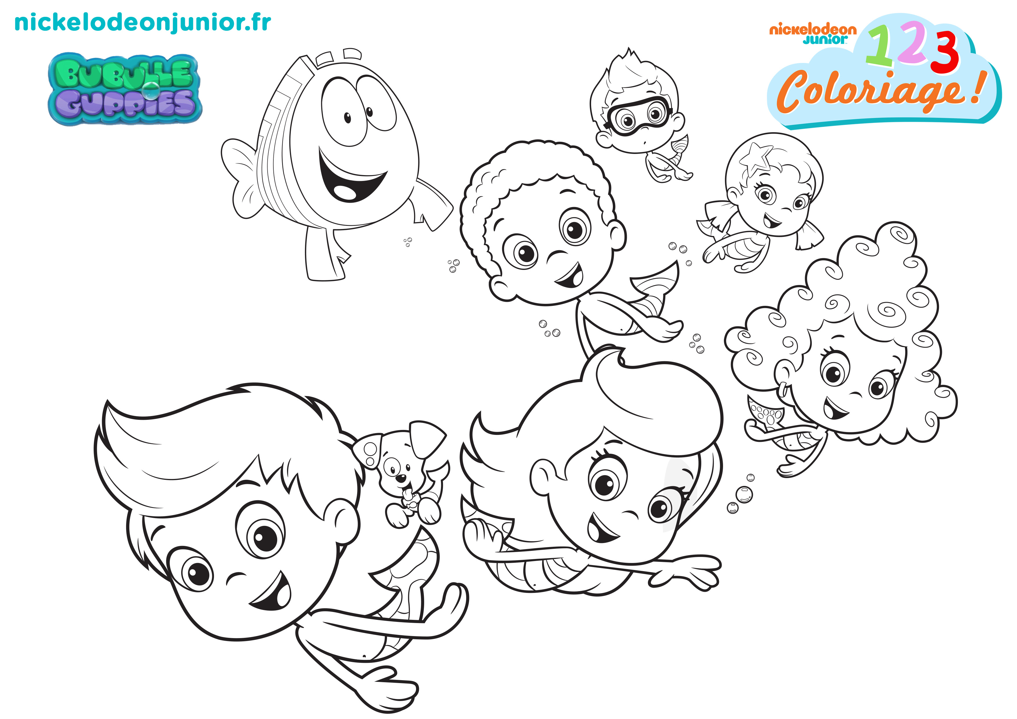 Coloriage Bubulle Guppies