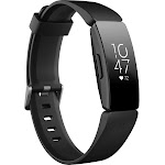 Fitbit Inspire HR, Fitness Tracker with Heart Rate, Size: Small/Large, Black