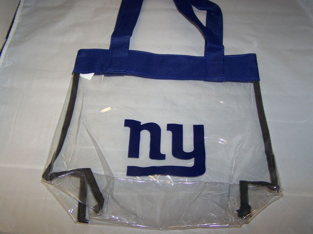 New York Giants NFL Logo Clear Stadium Approved Tote Beach Bag 12x6x12quot; eBay