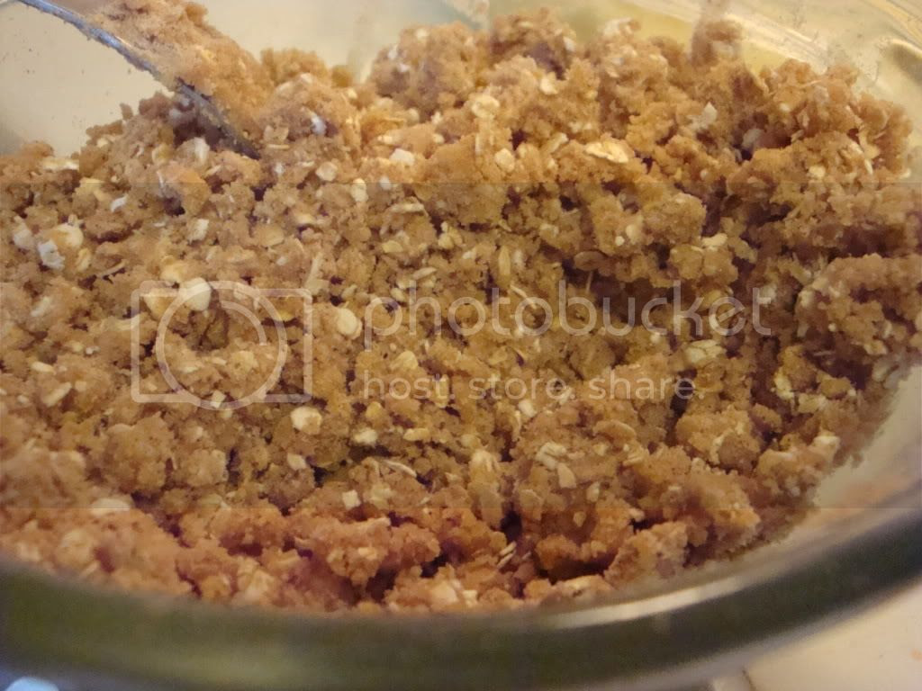 Apple crisp topping after adding butter