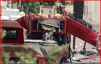Demolished bus