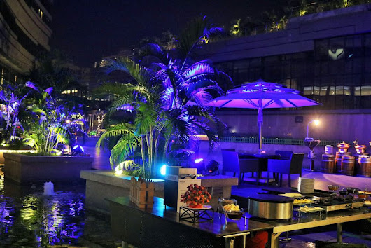 Barbeque by the Poolside at Cascades, Novotel Kolkata