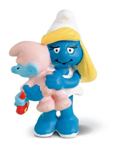 North America Smurfette With Baby - Smurf Toys