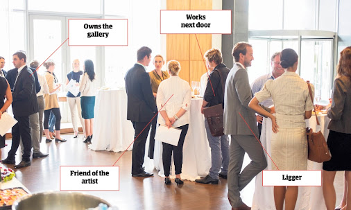 The 'eventing scene' is all about blagging free food and booze at gallerie