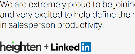 LinkedIn Acquires Heighten for SalesTech Tools
