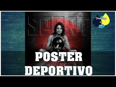 POSTER PUBLICITARIO DEPORTIVO CON PHOTOSHOP